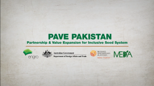 Project PAVE - Creating shared value in the agri-value chain in Pakistan